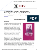 A Homeopathic Student's Introduction to Boenninghausen's Therapeutic Pocketbook