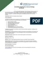 ITIL Intermediate Qualification - Service Strategy Certificate