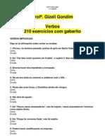 210_EXERCICIOS_VERBOS_COM_GABARITO Profª. Gizeli Costa