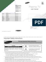 Samsung Plasma TV Manual