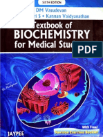 DM Vasudevan - Textbook of Biochemistry for Medical Students, 6th Edition