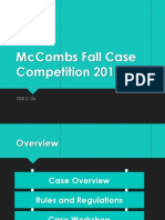 Mccombs Fall Case Competition 2013 Kickoff