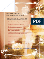 Scientific Research Journal of India (SRJI) Vol- 2, Issue- 4, Year- 2013