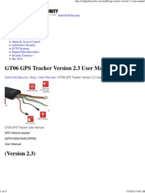 GT06 GPS Tracker Version 2   Subscriber Identity Module   Short