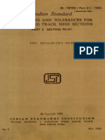 Is 10182 ( Part 2 ) - 1985 Dimensions and Tolerances for Hot Rolled Track Shoe Sections - Part 2 Section Ts-h1