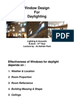 Window Design for Daylighting