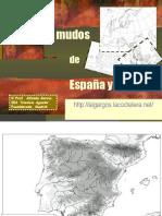 Mapas mudos de España y Europa
