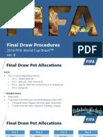 FIFA WC14 Draw Procedure