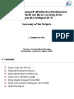 JICA Presentation Roadmap for Transport Infrastructure Development