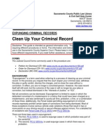 Expunging Criminal Records