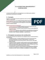 DISEÑO DE LA ESTRUCTURA ORGANIZATIVA Y COMUNICACIÓN