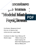 Modelul Mintzberg, Fayol,Stewart