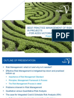 Best Practice Management of Risks in Projects