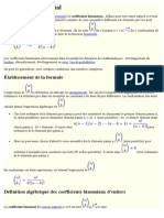 Coefficient Binomial