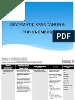 MATEMATIK KBSR TAHUN 6