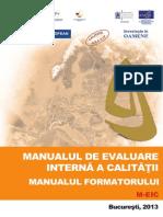 Manualul Formatorului - Manualul de Evaluare Interna a Calitatii