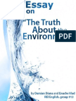 Essay on The Environmental Truth