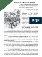 A REVOLUÇÃO NATIVISTA DE 1817 E OS MAÇONS