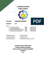 Laporan Praktikum Kimia Fisika Koefisien Distribusi Zandhika Alfi Pratama