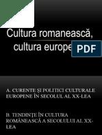 Cultura Romaneasca Sec. XX