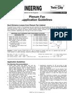 Plenum Fan Application Guidelines Fe 3500