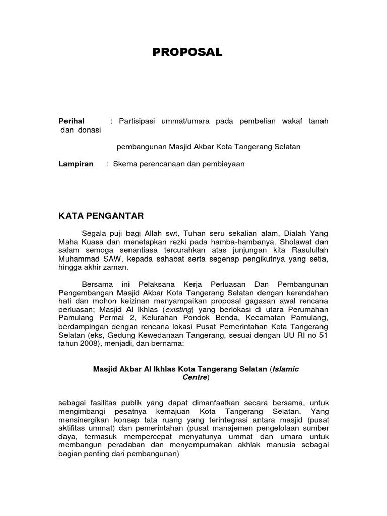 Proposal Tanah Wakaf