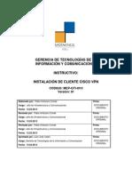 08 Instructivo de instalación de Cliente Cisco VPN