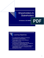 Shareholders & Stakehoders