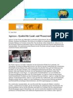 100712_FAIR UNTERWEGS_Agrexco_Symbol für Land_und Wasserraub
