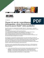110510_LINKE Bremen_Warum wir uns der vorgeschlagenen Parteien-Stellungnahme zu Boykottmaßnahmen nicht anschließen