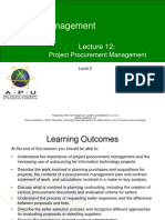 L12 Project Procurement Management