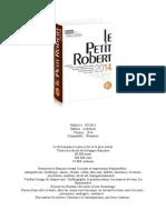 LOGICIEL Petit Robert 2014 (Avec Crack)