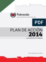 Plan de Acción de ProInversión - 2014
