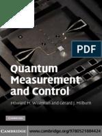 Quantum Measurement and Control - Wiseman & Milburn