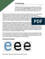A Closer Look at Font Rendering