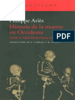 Aries, Philippe - Historia de La Muerte en Occidente