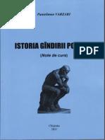 Manual de Istoria Gândirii Politice . Pantelimon Varzari