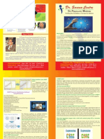Dr Saxena Center for Progressive Medicine - brochure  on HBOT