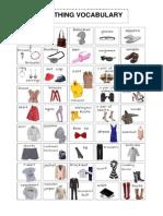 Clothes Vocabulary Handout