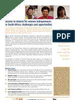 Access to Finance for Women Entrepreneurs in South Africa (November 2006)