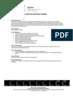 EC0001_Autodesk Ecotect Analysis Certified Training