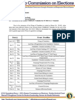 Memo 201402 Further Revisions on Ateneo COMELEC Calendar, 2nd Semester