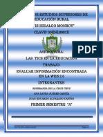 EVALUAR INFORMACIÓN ENCONTRADA EN LA WEB 2.0