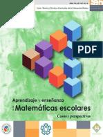 Aprendizaje y enseñanza de las Matemáticas escolares Casos y perspectivas
