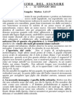 Pagina dei Catechisti - 12 gennaio 2014