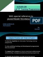 Effectiveness of 'IT' Training Programmes...