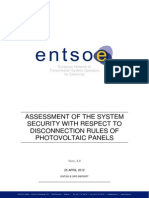 120530 LT ENTSO-E Concerning PV Issue Annex 1 Assessment of the System Security With Respect to Disconnection Rules of PV Panels 120425