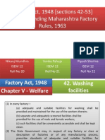 Factory Act & MFR Sections 42-53