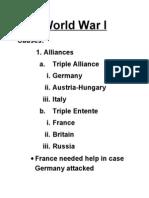 World War I Notes (1)