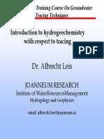 Introduction to Hydrogeochemistry